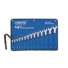 Набор ключей рожково-накидных 14 предметов (10-32 мм) Info 9141 I
