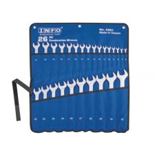 Набор ключей рожково-накидных на стенде 26 предметов (6-32 мм) Info 9261 I