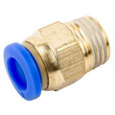 Соединение цанговое для полиуретановых шлангов PU/PR  (прямое, шланг - наружн. резьба) 8ммX1/2, AIRKRAFT SPC08-04