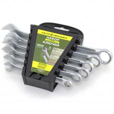 Набор ключей рожково-накидных 6 шт (8-17 мм) в пласт. кейсе Автотехника 101060