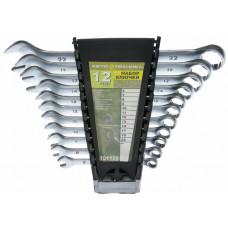 Набор ключей рожково-накидных 12 шт (6,8,10,12-19.22 мм) пластик, кейс Автотехника 101121
