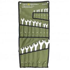 Набор ключей рожково-накидных 20 шт (6-32 мм) на полотне Автотехника 101200