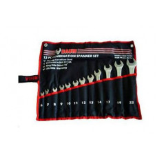 Набор ключей рожково-накидных на полотне 12 пр. (6-22 мм) Baum 30-12M