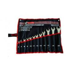 Набор ключей рожково-накидных отогнутых на 75 на полотне 12 пр. (6-22 мм) Baum 40-12M