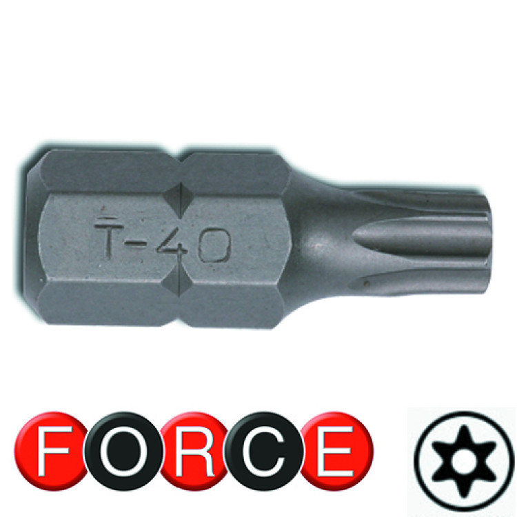 Бита Torx с отверстием 15 мм, L=30 мм 10 мм  Force 1773015