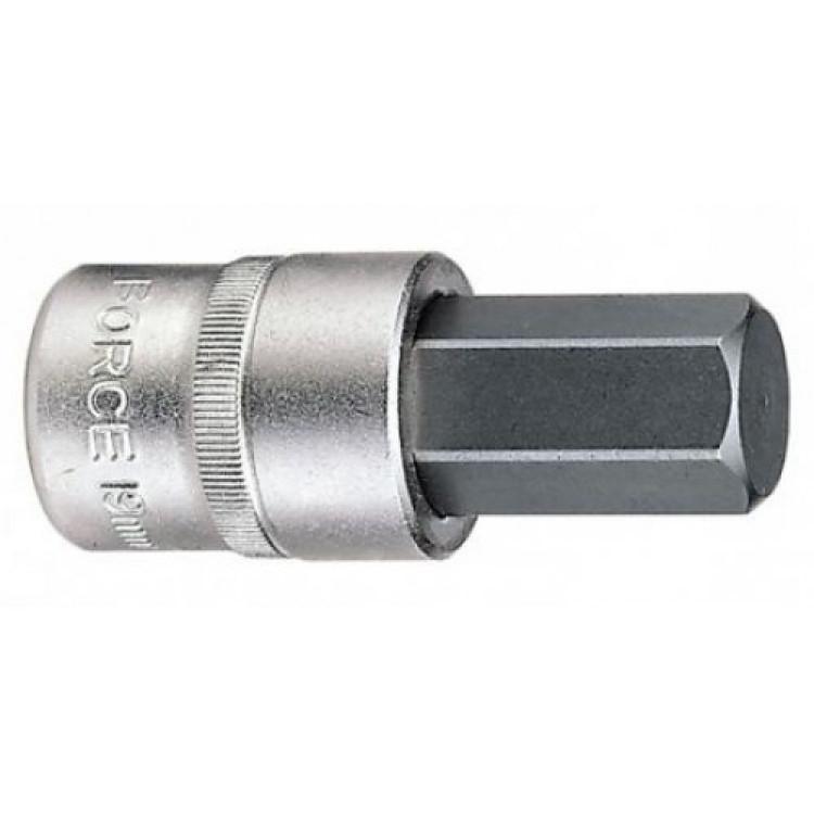 Головка-бита 1/2  6-гр. (HEX) 10 мм, L=55 мм Force 34405510