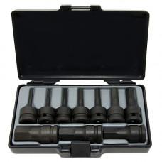 Набор головок-бит 6-гр. ударных 1/2  10 предметов (4-19 мм) Force 41012