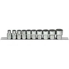 Набор головок 1/2  6-гранные 10 предметов  (11-24 мм) Force 4106