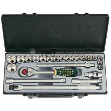Набор инструмента 12-гр. 1/2  24 предметов (10-32 мм) Force 4243-9