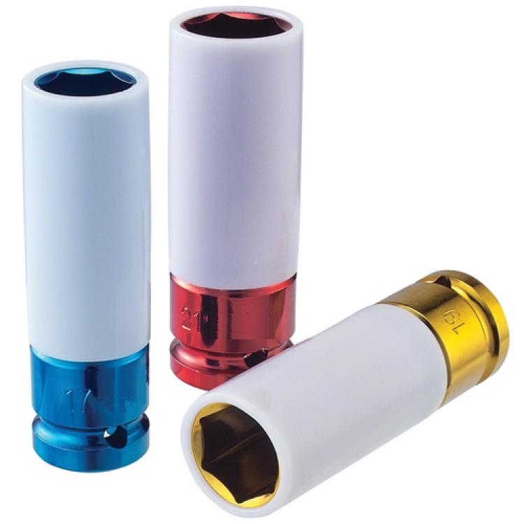 Force 1/2 Головка 6-гр. ударная, глубокая, цветная 21 мм, L=85 мм Артикул:  4458521C