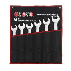 Набор ключей рожково-накидных на полотне 6 пр. (32 - 46 мм) Force 50651