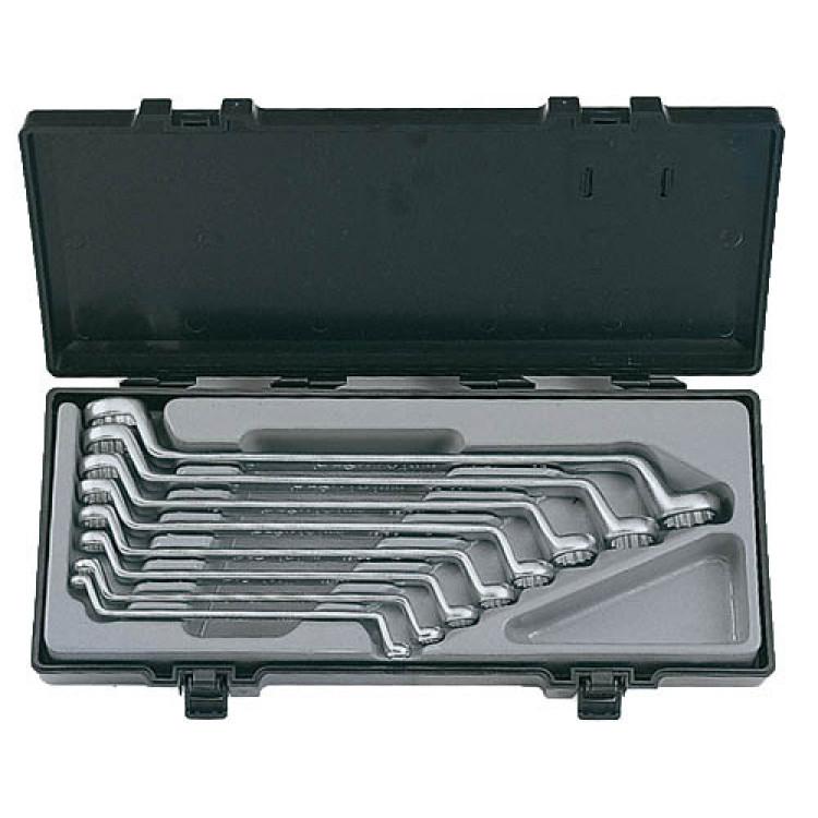 Набор ключей накидных отогнутых на 75 8 пр. (6-23 мм) Force 5081