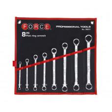 Набор ключей накидных отогнутых на 15 8 пр. (6-22 мм) Force 50821A