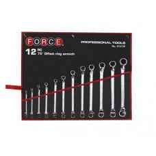 Набор ключей накидных отогнутых на 75 на полотне 12 пр. (6-32 мм) Force 51213P