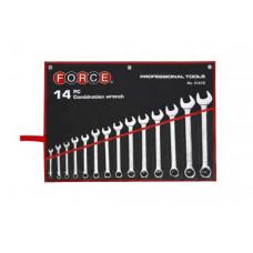 Набор ключей рожково-накидных 14 пр. (10-32 мм) Force 5141