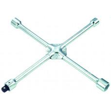Ключ баллонный крест 17*19*21*22 мм с съемным переходником 1/2 Force 681B400