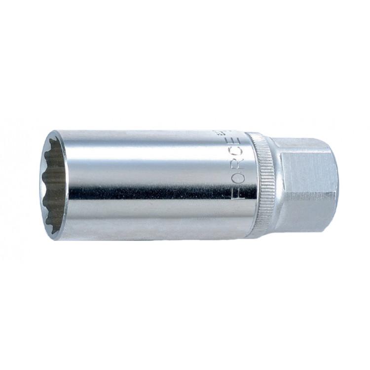 3/8 Головка свечная магнитная 18 мм, L=70 мм Force 807318M