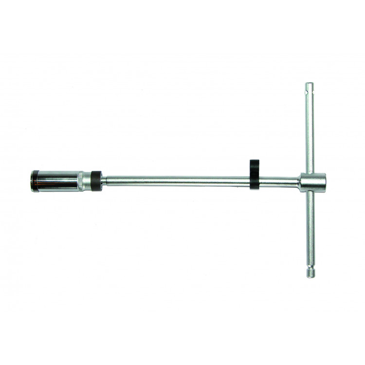 3/8 Ключ свечной Т-обр. с карданом 16 мм, L=500 мм (шарнир. фиксация) Force 807350016B
