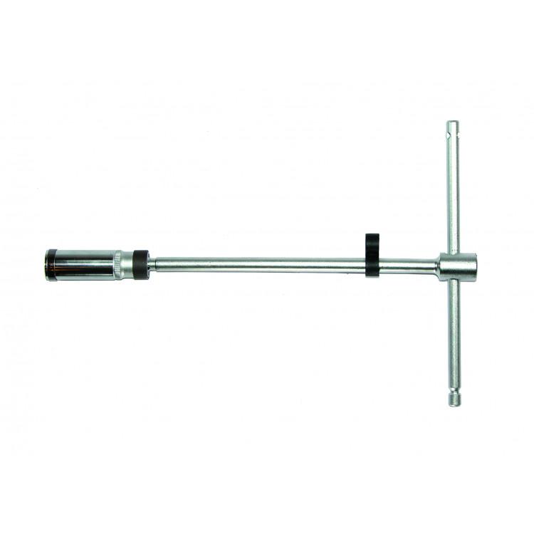 Ключ свечной 3/8  Т-обр. с карданом 20.6 мм, L=500 мм (шарнир. фиксация) Force 807350020.6B