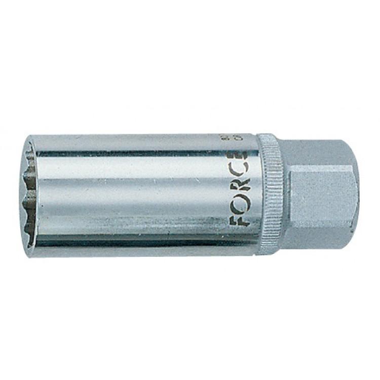Головка 1/2 свечная магнитная 16 мм, L=70 мм Force 807416M