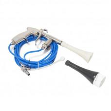 Пистолет пневматический ''Tornado''для химчистки салона а/м с комплектом шлангов и сменной щеткой-насадкой Forsage 16967