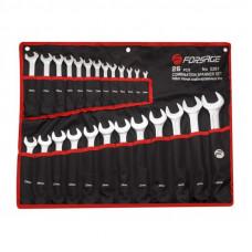 Набор ключей комбинированных 26пр. на полотне Forsage 7028