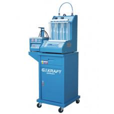Установка для диагностики и чистки форсунок (6 форсунок, тележка, у/звуковая ванна с таймером) GIKraft GI19113