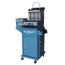 Установка для диагностики и чистки форсунок (6 форсунок, тележка, ультразвуковая ванна с таймером) GIKraft GI19114
