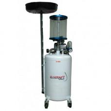 Установка для слива и откачки масла с пневмонасосом и мерной колбой (80л.) HD-855