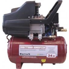 Компрессор 24 л, 1,5кВт, 2НР, U=220V, р=8атм, 206л/мин, 30кг 862242 Grand Tool 862242
