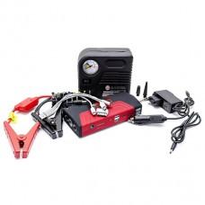 Набор пускозарядное устройство универсальное 16800 mАч. + мини компрессор Intertool AT-3010