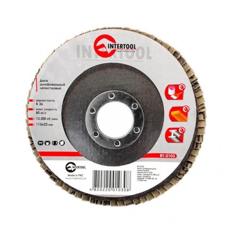 Диск шлифовальный лепестковый 115*22мм, зерно K36