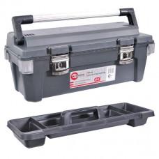 Ящик для инструмента с металлическими замками 25.5 650*275*265мм. Intertool BX-6025