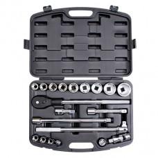 Профессиональный набор инструмента 3/4 , 20ед ( гол.19-50мм ) пластиковый кейс Intertool ET-6023