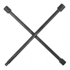 Ключ баллонный крестовой 16 *406мм, D=16мм, 17, 19, 21, 1/2 профессионал Intertool HT-1603