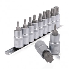 Набор TORX на планке 1/2 - Т20,25,30,40,45,50,55,60,70., 9ед. Intertool HT-1849