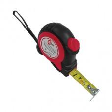 Рулетка 7.5м*25мм с автоматической блокировкой полотна, на зацепе полотна установлены магниты