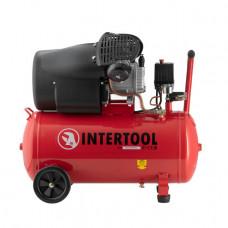Компрессор 50л, 2-х цилиндровый Intertool PT-0004