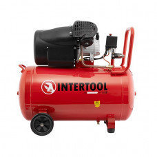 Компрессор 100 л, 2.23 кВт, 220 В, 8 атм, 354 л/мин, 2 цилиндра Intertool PT-0005