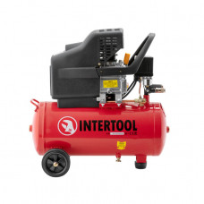 Компрессор 24л, 2HP, 1.5кВт, 220В, 8атм, 206л/мин. Intertool PT-0009