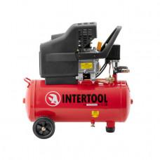 Компрессор 24л, 2HP, 1.5кВт, 220В, 8атм, 206л/мин. Intertool PT-0009