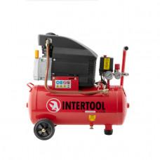 Компрессор 24л, 2HP, 1.5кВт, 220В, 8атм, 206л/мин Intertool PT-0010