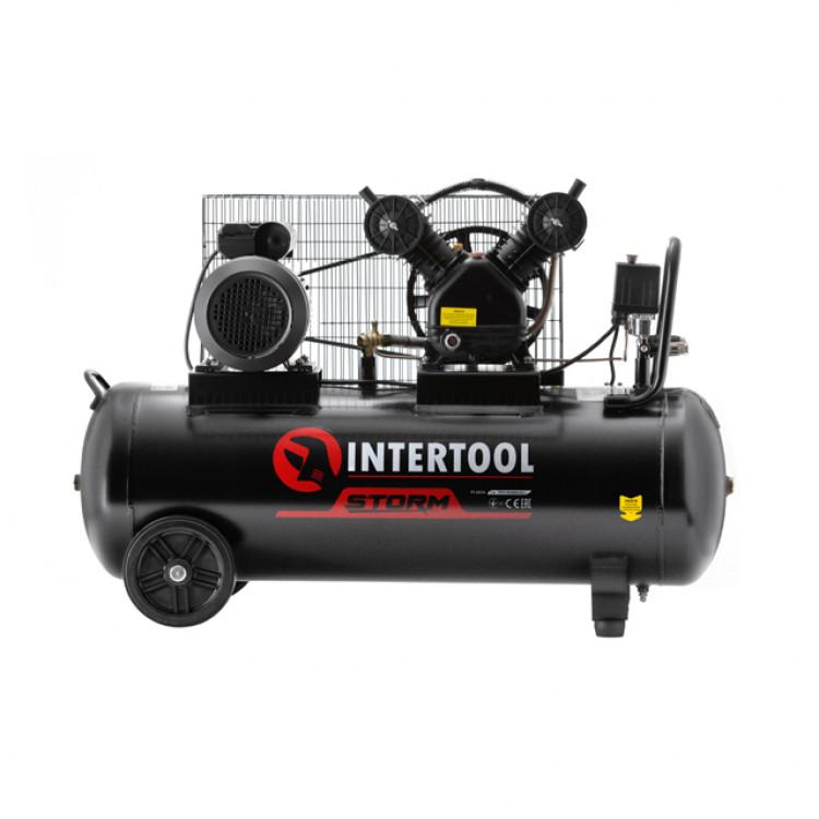 Компрессор 100л, 2 цилиндра Intertool PT-0014