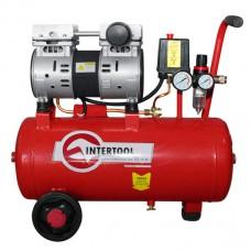 Компрессор 24л, 1.5HP, 1.1кВт, 220В, 8атм, 145л/мин, малошумный, безмасляный, 2 цилиндра PT-0022