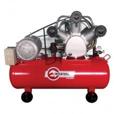 Компрессор 300л, 20HP, 15кВт, 380В, 8атм, 2000л/мин. 3 цилиндра Intertool PT-0052