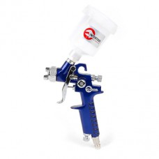 Пистолет покрасочный пневматический HVLP мини, форсунка 0.8мм, верхняя подача, бачок 125мл, 3.0bar. Intertool PT-0101