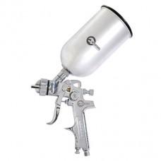 Пистолет покрасочный пневматический HVLP, форсунка 1.3мм, В/Б, металл 1000мл, 3.5-5bar. Intertool PT-0107