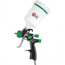 LVLP GREEN NEW Профессиональный краскораспылитель 1.3мм, верхний пластиковый бачок 600мл., mах 1.5 PT-0132