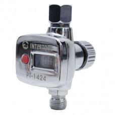 Регулятор давления с цифрововым манометром для пистолетов покрасочных, профессиональный, 1/4 PT-1424