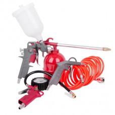 Набор покрасочный пневматический 5 ед. Intertool PT-1501